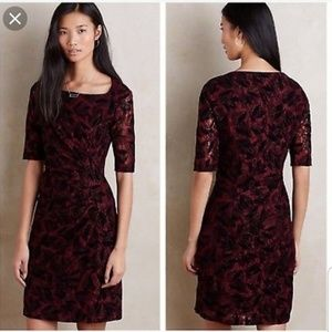 NWT Anthropologie maeve lace overlay dress